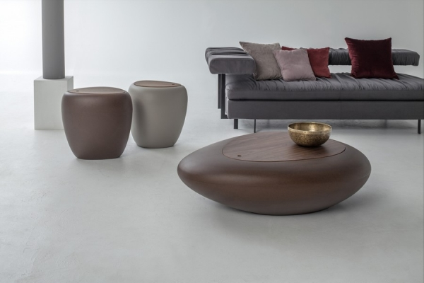 Tavolino da salotto moderno e di design kos di tonin casa con vano