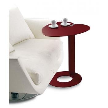 Tavolino My Heart di Pezzani colorato con piano in alluminio