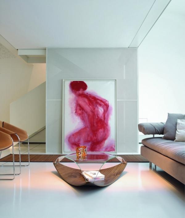 Tavolino quiet di tonin casa in legno con top in vetro curvato - Tavolini tonin casa ...