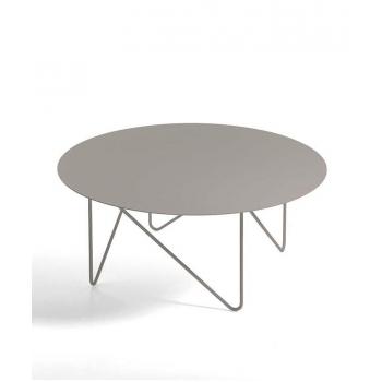 Tavolino Shape di Pezzani con struttura e top in acciaio verniciato in vari colori