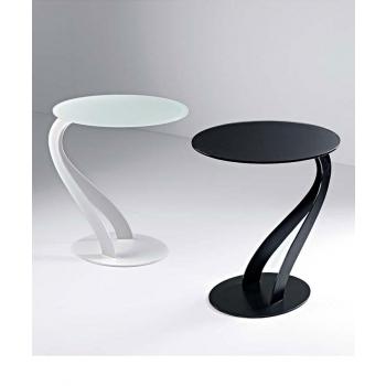 Tavolino Swan di Pezzani con top in vetro temperato acidato