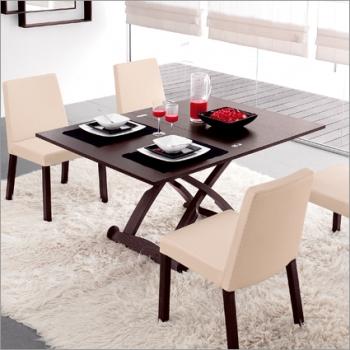 Tavolino trasformabile in legno Mascotte di Calligaris