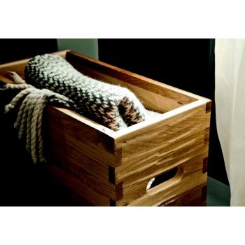 Tavolino Wood di Altacorte con funzione di contenitore tutto interamente in legno