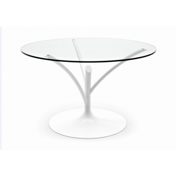 Tavolo Albero con piano in vetro