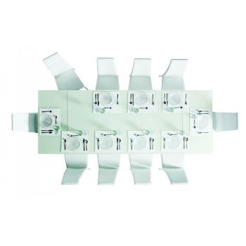 Tavolo Allungabile 160 Oasi di Bontempi in cristallo