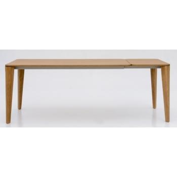 Tavolo allungabile Dafne di Tonin con struttura in legno piano