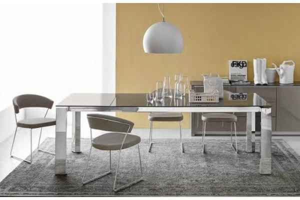 Tavolo gate allungabile di connubia by calligaris con for Tavolo vetro allungabile calligaris
