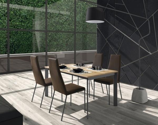 Tavolo Allungabile Universe 130 di Domitalia co struttura in acciaio