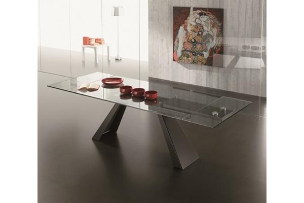 Tavoli tavolini e consolle di design allungabili in legno vetro e metallo - Tavolo di vetro allungabile ...