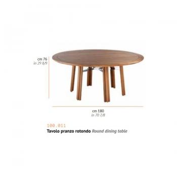 Tavolo da pranzo Maxim con struttura in legno e componenti in acciaio inox