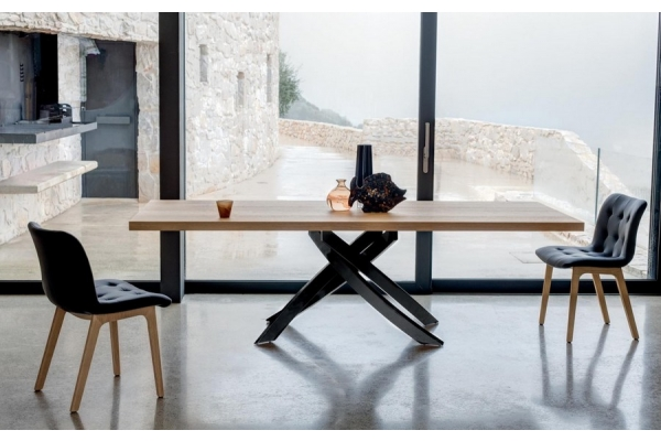 Tavolo fisso e allungabile Artistico di Bontempi