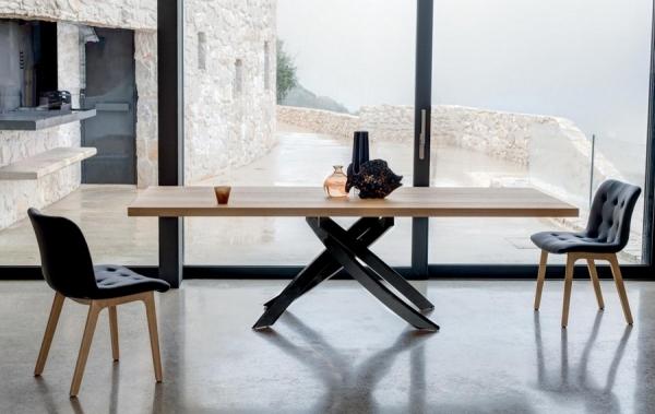 Tavolo fisso e allungabile artistico bontempi design con struttura