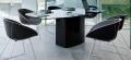 Tavolo fisso Aero TAE di Pedrali con piano in vetro o in mdf laccato
