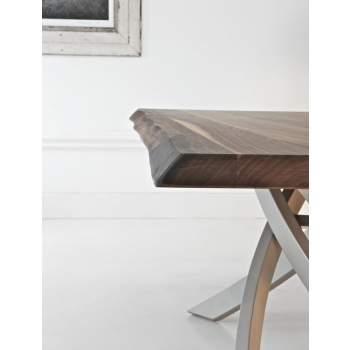 Tavolo fisso Artistico di Bontempi cm 250 in Cristallo o Legno