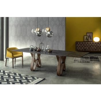 Tavolo fisso o allungabile Butterfly di Tonin casa dal Design inimitabile
