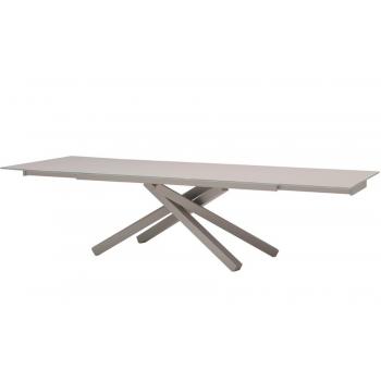 Tavolo fisso o allungabile Pechino di Midj con struttura in acciaio