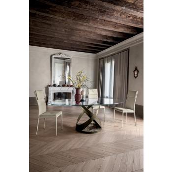 Tavolo in vetro o legno dal design unico e intramontabile Capri di Tonin Casa