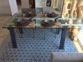 Tavolo Levante di Calligaris allungabile con piano in vetro