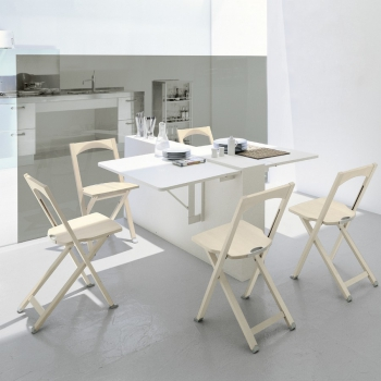 Tavolo Quadro di Connubia by Calligaris allungabile in nobilitato bianco