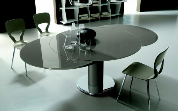 Tavolo rotondo allungabile giro di bontempi un tavolo for Tavolo allungabile rotondo