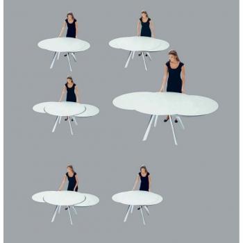 tavolo rotondo allungabile giro di bontempi un tavolo ... - Tavolo Rotondo Vetro Allungabile