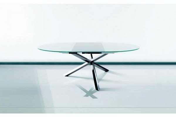 tavoli rotondo allungabili in plexiglass : Trio tavolo allungabile rotondo con piano in cristallo di Ingenia ...