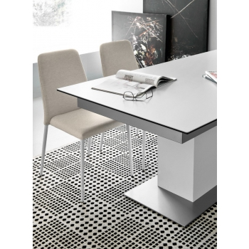 Tavolo Sincro di Connubia by Calligaris allungabile con piano in ceramica o vetro