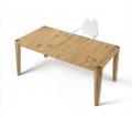 Tavolo in legno rovere vecchio con gambe coniche a filo piano