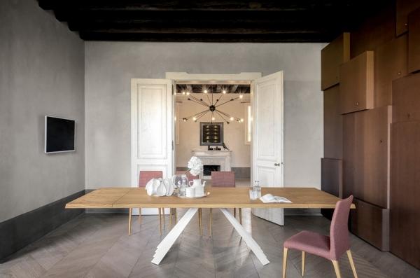 Tavolo fisso e allungabile Ventaglio di Tonin Casa