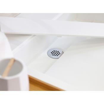 Top Tuttapost Sospeso di Cipì in Solid Surface Bianco con lavandino integrato