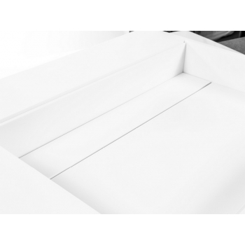 Top Tuttapost Sospeso di Cipì in Solid Surface Bianco con lavandino integrato