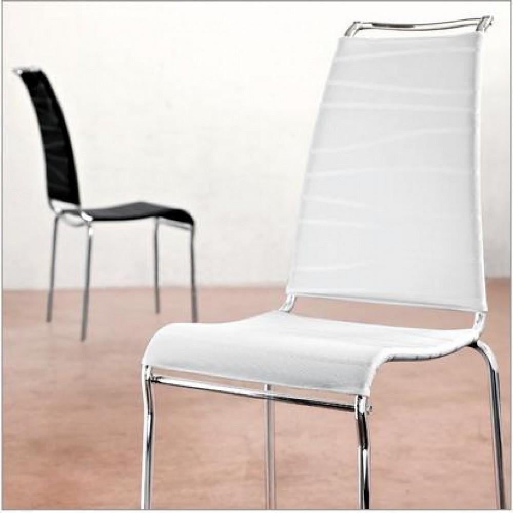 Air High stapelbarer Stuhl von Connubia Calligaris mit hoher Rückenlehne