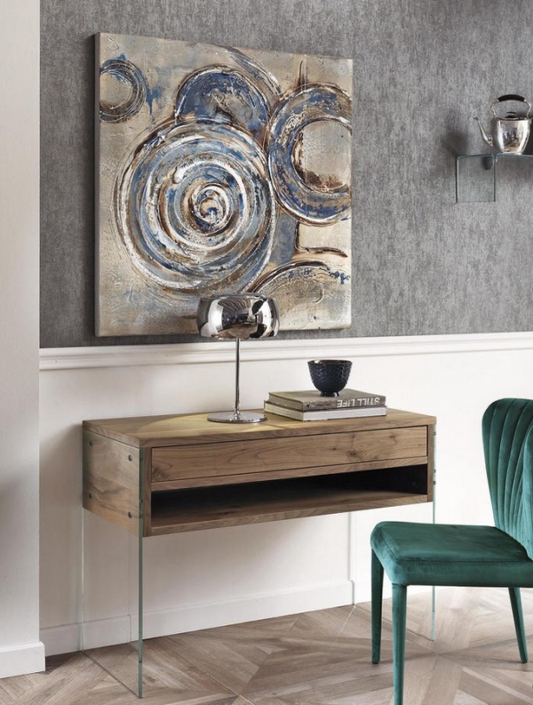 stone cloud sideboard aus holz mit glasbeinen. Black Bedroom Furniture Sets. Home Design Ideas