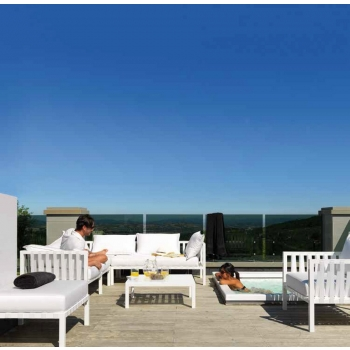 Riva modularer Wohnbereich von Vermobil für den Außenbereich
