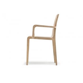 Pedrali Young 425 Stuhl mit Armlehnen aus Holz