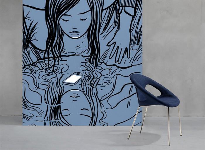 Scab Design Drop Pop Gepolsterter Und Bezogener Stuhl Mit