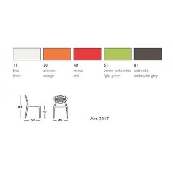 Top Gio Stuhl von Scab Design aus Technopolymer