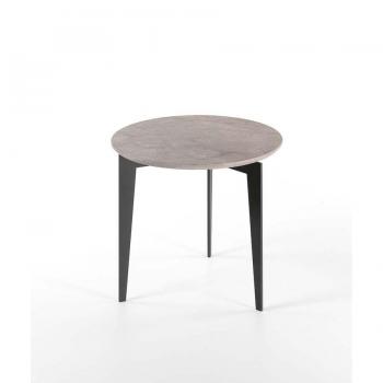 Nordic Couchtisch von Pezzani Struktur aus lackiertem Stahl und Marmorplatte