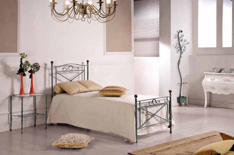 size 40 278fd 6a899 Nuvola single bed in wrought iron handcrafted