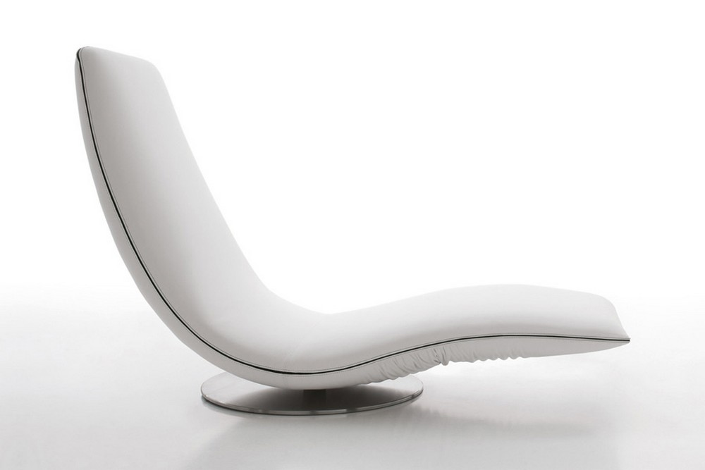 Armchair the Tonin Casa Swirl in leather, eco-leather or completely ...