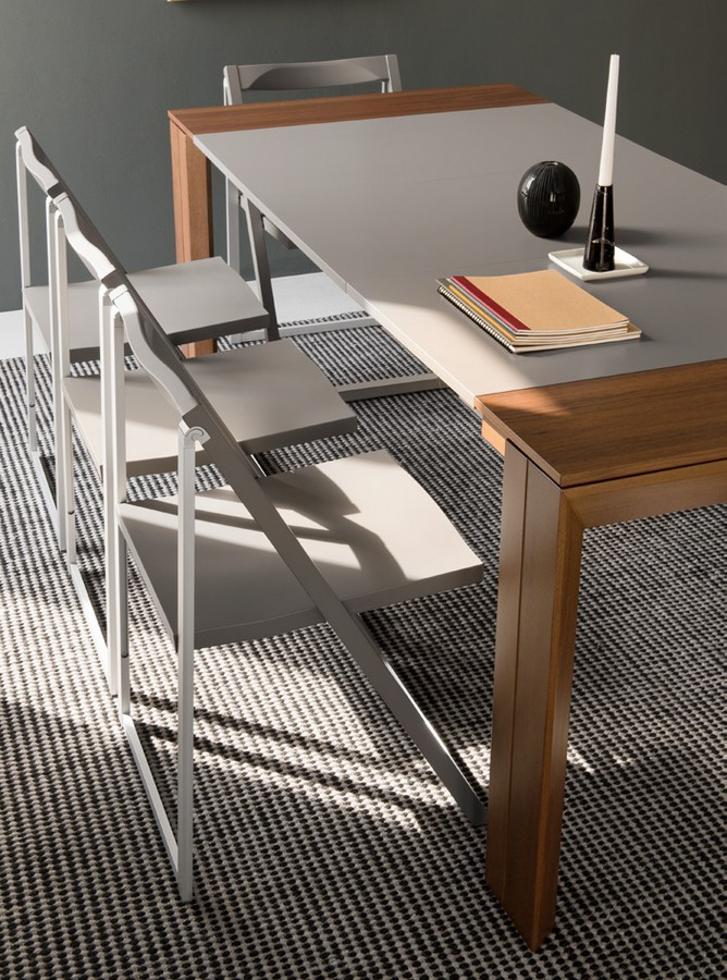 Calligaris Tavolo Consolle Allungabile Mistery.Extensible Gate Table By Connubia By Calligaris With Glass Or