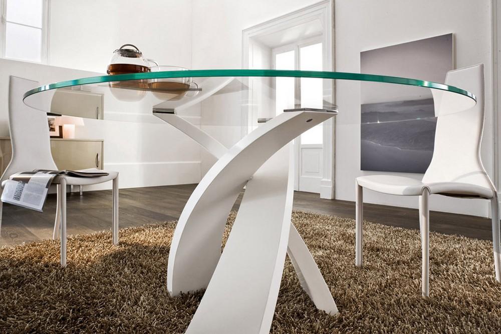 Tavolo Tondo In Vetro.Tonin Casa Eliseo Table Tables Equal Furnishings