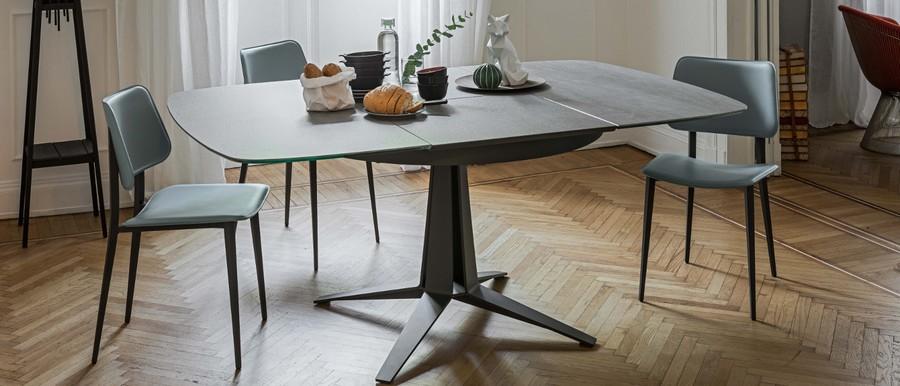 Tavolo Rettangolare Allungabile Quadrato.Midj S 120 180 Link Table