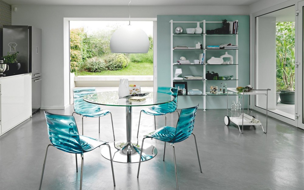 Tavolo Calligaris Vetro Trasparente.Planet Table By Connubia By Calligaris With Round Glass Top