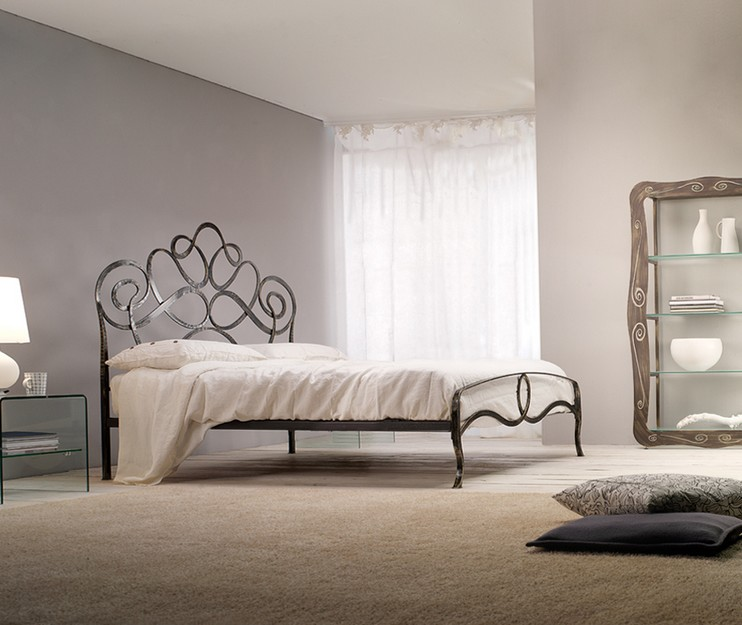 Double Bed In Wrought Iron Arabesque Of Cosatto