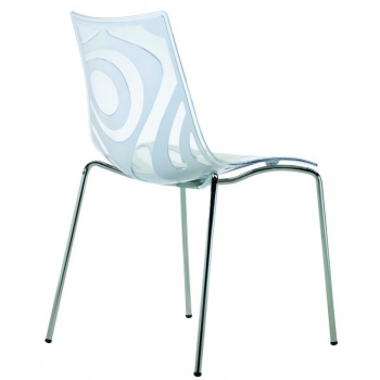 Wave chair with 4 legs and Lino Transparent