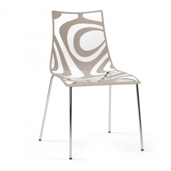 Wave chair with 4 legs Transparent and Sand