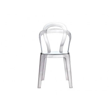Titi transparent stackable chair by Scab Design