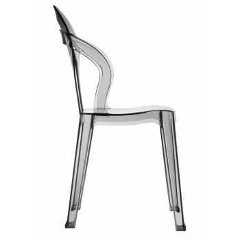Titi transparent stackable chair by Scab Design smoky