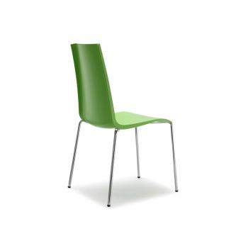 Mannequin 4 legs stackable chair in green polypropylene Scab pistachio